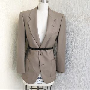 Yves Saint Laurent Vintage Khaki 2 Button Blazer!